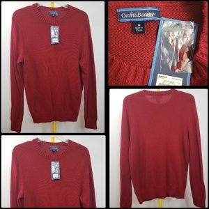 CROFT AND BARROW men's CASUAL KNITTED SWEATER nwt